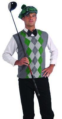 Grün Kariert Irisch Herren Erwachsene St.Patrick's Day Golfer Kostüm - Irischer Hut Kostüm