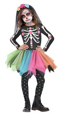 Sugar Skull Girl Costumes (Sugar Skull Girls Child Day Of The Dead Halloween)
