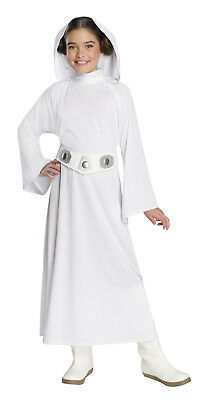 Deluxe Princess Leia Girls Child Star Wars Force Of Destiny Costume - Princess Leia Costum