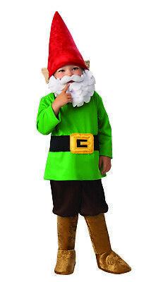 Garden Gnome Kids Costume (Garden Gnome Boys Child Dwarf Cute Halloween)