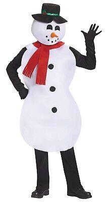 Jolly Schneemann Herren Erwachsene Schaum Frosty Weihnachten Kostüm Tunika ()