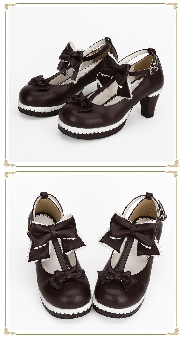 Details zu Gothic Lolita Barock victorian rokoko Vintage Damen schuhe shoes Pump cosplay