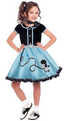 At The Hop Mädchen Kind 50er Jahre Pudel Socke Hop Tänzer Halloween Kostüm