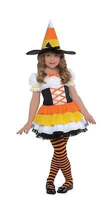 Süßes oder Saures Mädchen Kleinkind Candy Corn Hexe Halloween Kostüm ()