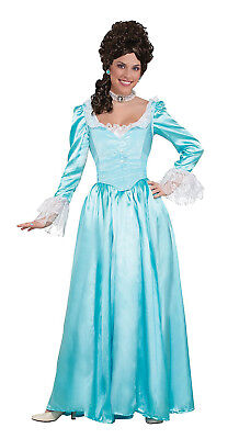 Colonial Halloween Costumes Adults (Blue Colonial Lady Womens Adult Renaissance Halloween)