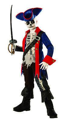 Kapitän Barbosa Knochen Geisterpirat Schiffswrack Jungen Halloween Kostüm ()