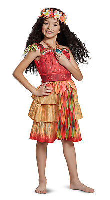 Moana Epilogue Deluxe Girls Toddler Hawaiian Disney Movie Princess Costume](Hawaiian Disney Princess)