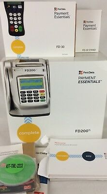 Fd200ti   Fd30 W  Stand First Data Payment Essentials Credit Card Terminal Check