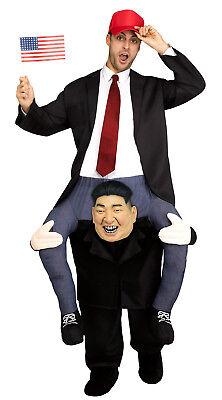 Trage Mich Kim Herren Erwachsene Kim Jong Un darauf Reiten Halloween Costume-Std