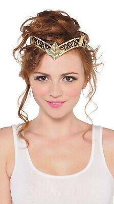 Göttin Damen Erwachsene Mittelalterliche Prinzessin Grichischer Kostüm Gold (Goldene Göttin Erwachsenen Kostüme)