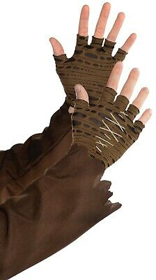 Witch Dr Mens Adult Voodoo Magic Costume Cropped Fingerless Gloves](Witches Glove)