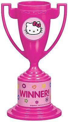 Hello Kitty Niña Infantil Cumpleaños Trofeo Taza 8 Plástico Premio De Regalos