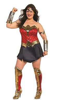 Justice League Womens Deluxe Plus Size Wonder Woman Superhero Costume ()