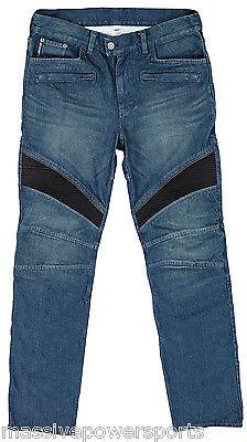 Joe Rocket Accelerator Denim Aramid Motorcycle Jeans Size 38 Stunt Riding Pants