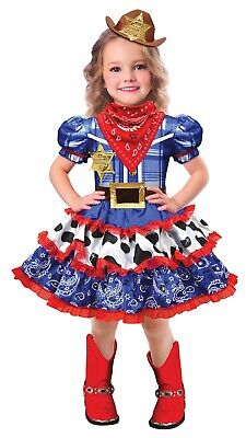 Rodeo Cutie Girls Child Western Cowgirl Halloween Costume](Cowgirl Childrens Costume)