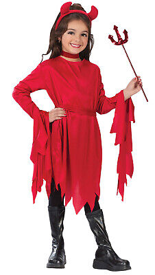 Devil Costume For Girl (Devil Girls Child Classic Red Demon Classic Halloween)