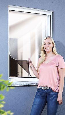 Schellenberg Insektenschutz-Fenster Fliegengitter ohne bohren 100x120 cm Weiß