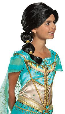 Kids Black Wig (Princess Jasmine Girls Child Aladdin Live Action Black Braid)