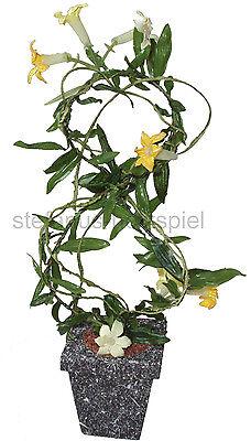 Trompetenbaum, Pflanze Blume für Puppenhaus Puppenstube 1:10 Bodo Hennig 27591