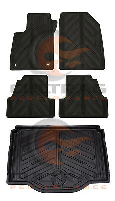 2013 2019 Buick Encore GM Front  Rear  Cargo All Weather Floor Mats Black