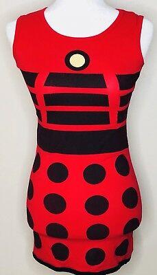 Doctor Who By Her Universe Dress Small Red Black Dalek Print Exterminate - Dalek Dress