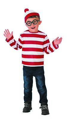 Wheres Waldo Boys Child Book Character Halloween Costume - Boy Book Character Costumes