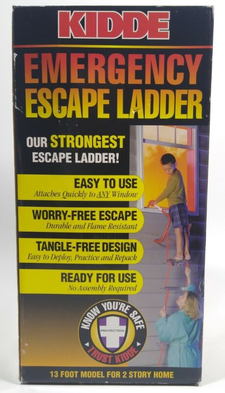 Kidde 468035 KL-2S Two-Story Emergency Escape Ladder 13-Foot Ready to Use