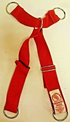 Morning Pride Red Firefighter Suspenders For Turnout Pants