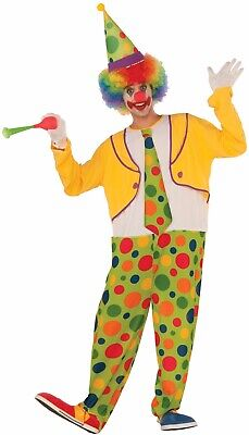Hoopy The Clown Men's Adult Circus Jester Halloween Costume (Circus Costumes Men)