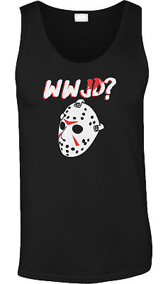 Film Buff Halloween Costumes (WWJD What Would Jason Do Halloween Movie Buff Face Mask Costume Mens)