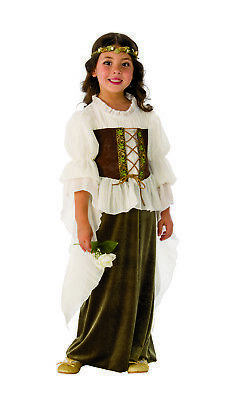 Woodland Girl Maid Marian Girls Child Renaissance Halloween Costume ()