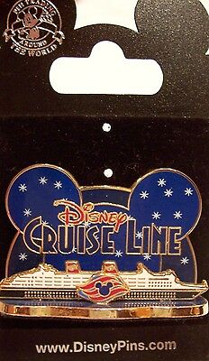 Disney Cruise Line Mickey Ears Ship Pin New on Card