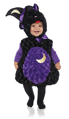 Spooky Girls Toddler Black Cat Belly Baby Plush Halloween - Infant Black Cat Halloween Costumes