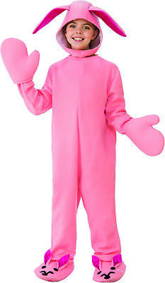 Bunny Boys Child A Christmas Story Holiday Costume Pink Jumper-M](Christmas Story Costume)