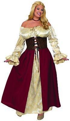Mittelalterlich Mädchen Damen Erwachsene Bier Maiden Halloween Kostüm