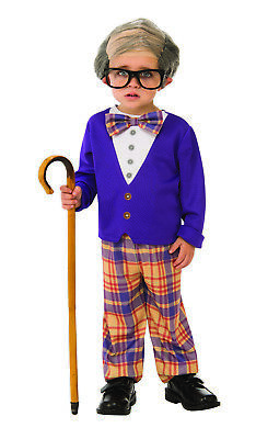 Little Old Man Boys Child Funny Grandpa Halloween Costume