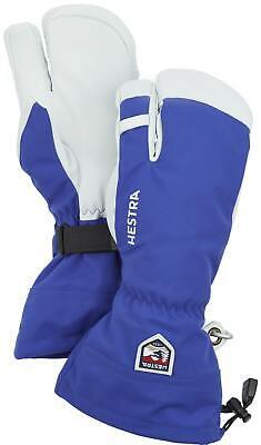 2020 Men's Hestra Army Leather Heli 3 Finger Ski Gloves Size 9 Royal Blue 30572
