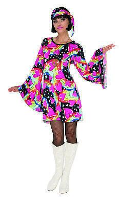Gogo Mädchen Damen Erwachsene 70S Disco Tänzer Chick Halloween COSTUME-M