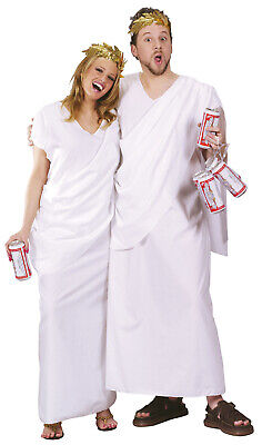 Mens Greek Halloween Costumes (White Toga Party Adult Greek Roman Halloween)