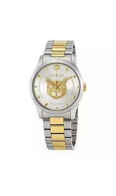 Gucci Timeless Silver Dial Two-tone Unisex Watch YA1264074