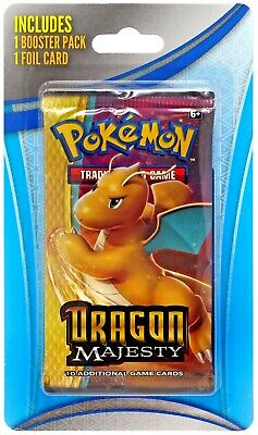 Pokemon TCG Dragon Majesty BLISTER Booster Pack [1 Pack + 1 Foil Card]