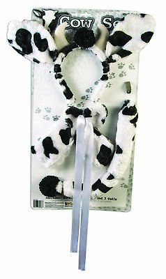 Halloween Cow Ears (Cow Womens Adult Cute Farm Animal Halloween Costume Accessory)