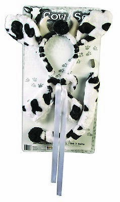 Cow Womens Adult Cute Farm Animal Halloween Costume Accessory Kit Cow Farm Animal Costume