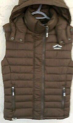 Superdry Men's Fuji Double Zip Vest, Olive, X-Large