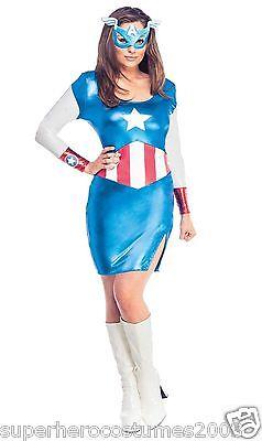 Avengers Age of Ultron Captain America Dream Female Costume Marvel XSmall 880842](Female Avenger Costumes)