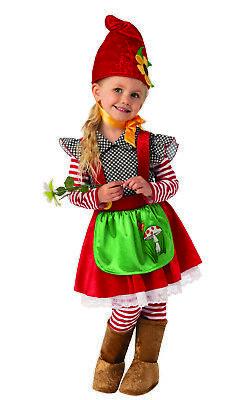 Garden Gnome Kids Costume (Garden Gnome Girls Child Dwarf Cute Halloween)