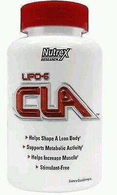 Nutrex Lipo-6 CLA Stimulant-Free Fat Burner Weight Loss 45 Softgels