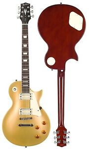 Jay Turser Model JT-220-GT Gold Top Electric Guitar - Set Neck LP Style - New