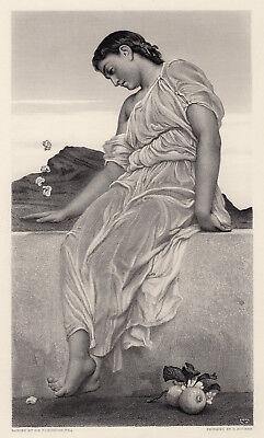 Allure Framed Art - Alluring 1800s Frederic Leighton Engraving