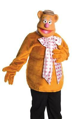 New The Muppet Fozzie Bear Adult Costume Small 34-36